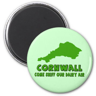 Funny Cornwall 2 Inch Round Magnet