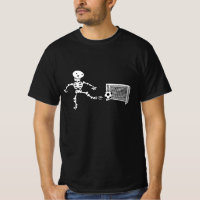 Funny Costume Halloween Skeleton Playing Soccer T-Shirt