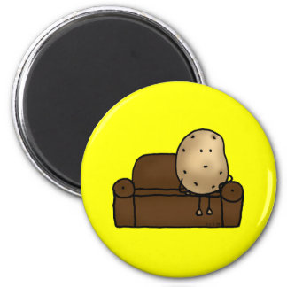 Funny couch potato 2 inch round magnet