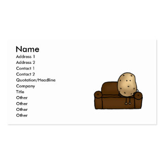 Funny couch potato business card