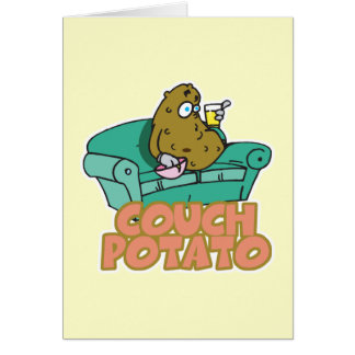 Funny Couch Potato Greeting Cards