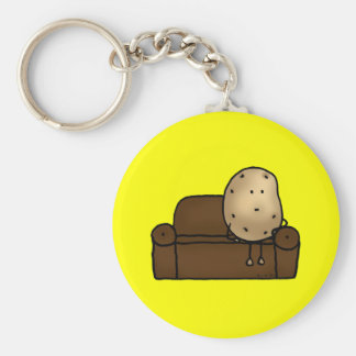 Funny couch potato keychain