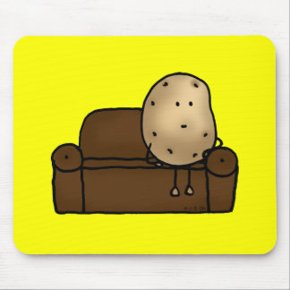 Funny couch potato mouse pad