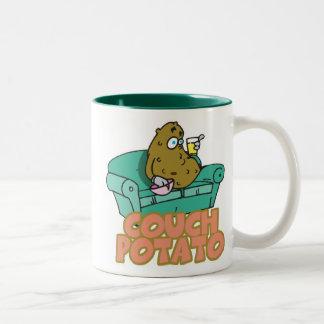 Funny Couch Potato Two-Tone Mug