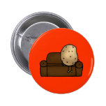 Funny couch potato pins