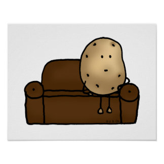 Funny couch potato posters
