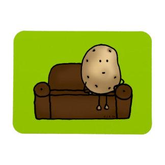 Funny couch potato rectangular photo magnet