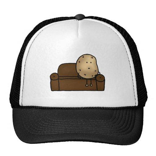 Funny couch potato trucker hats