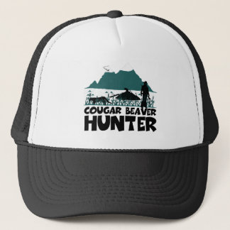 Funny cougar trucker hat