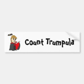 Funny Count Trumpula Trump Cartoon Bumper Sticker