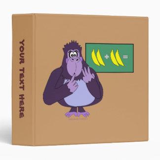Funny Counting Gorilla Math Custom 3 Ring Binder