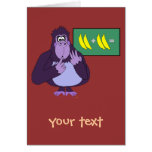 Funny Counting Gorilla Math Custom Card
