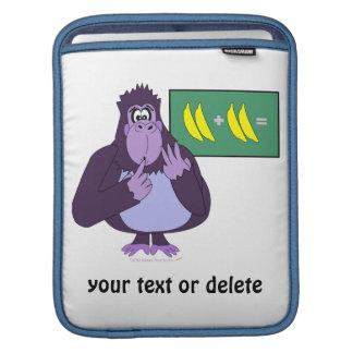 Funny Counting Gorilla Math Custom iPad Sleeve