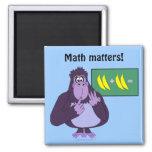 Funny Counting Gorilla Math Custom Refrigerator Magnet