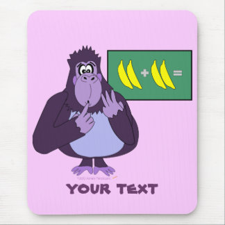 Funny Counting Gorilla Math Custom Mouse Pad
