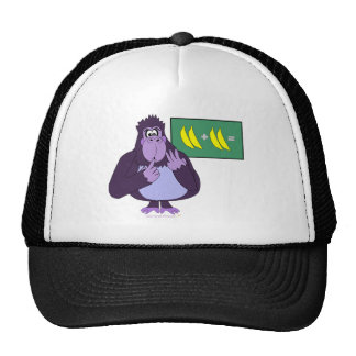 Funny Counting Gorilla Math Custom Trucker Hat