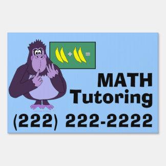 Funny Counting Gorilla Math Tutoring Custom Sign