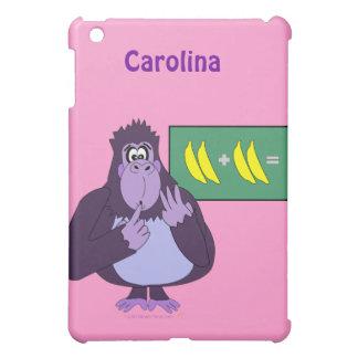 Funny Counting Gorilla Maths Custom Name iPad Mini Cover