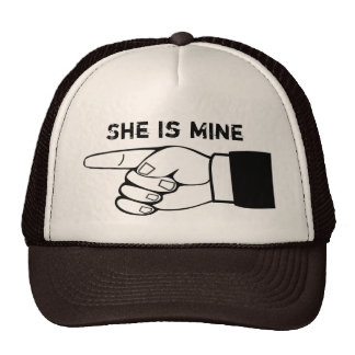 Funny couple hat, x2 ,HE/SHE is mine,edit text