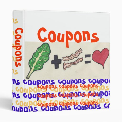 Funny Coupon Binder with Greens and Bacon