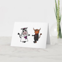 Funny Cow and Bull Wedding Card