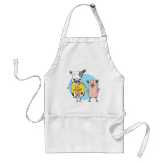 Funny Cow and Pig Awkward Moment Apron
