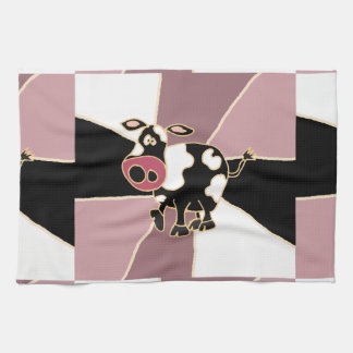 Funny Cow Art Kitchen Towels