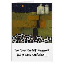 funny cow birthday humorous card