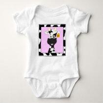 Funny cow cartoon baby shirt