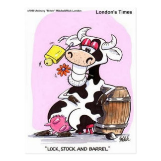 Funny Cow Cartoon Gifts Tees & Collectibles Postcard