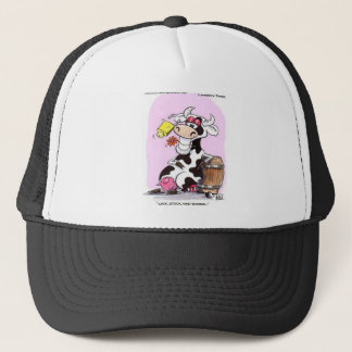 Funny Cow Cartoon Gifts Tees & Collectibles Trucker Hat