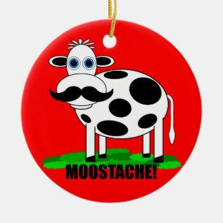 funny cow ceramic ornament