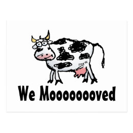 Funny Cow Change of Address Postcard