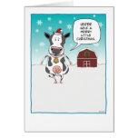 Funny cow Christmas card: Heifer self ... Card