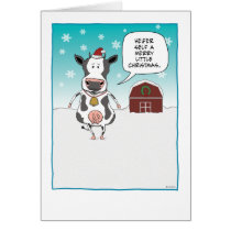 Funny cow Christmas card: Heifer self ... Card