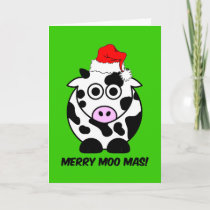 Funny cow Christmas Holiday Card