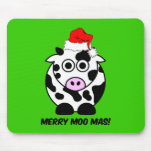 Funny cow Christmas Mouse Pad