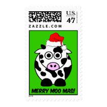 Funny cow Christmas Postage