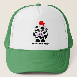 Funny cow Christmas Trucker Hat