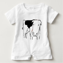 Funny Cow Dairy Farm Baby Romper