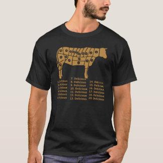 Funny Cow Diagram Dark T-Shirt