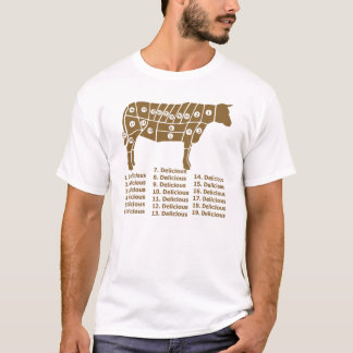 Funny Cow Diagram T-Shirt