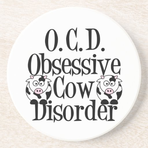 Funny Cow Drink Coasters