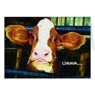 Funny Cow Face Cards