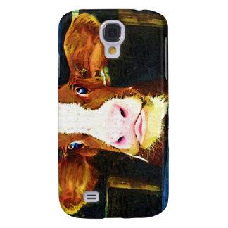 Funny Cow Face Galaxy S4 Case