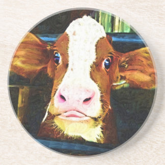 Funny Cow Face Coasters