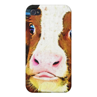 Funny Cow Face iPhone 4/4S Cover