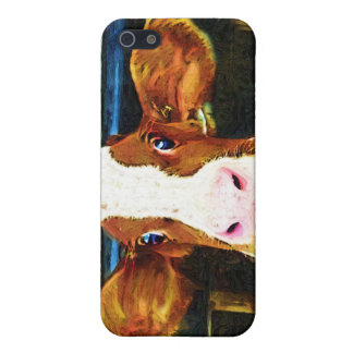 Funny Cow Face Cover For iPhone 5