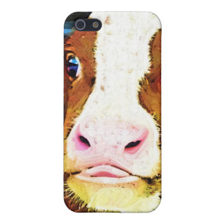 Funny Cow Face Covers For iPhone 5