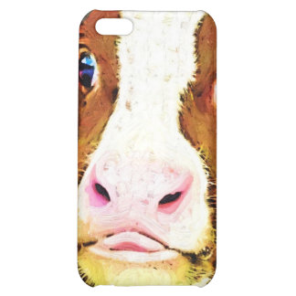 Funny Cow Face iPhone 5C Cover